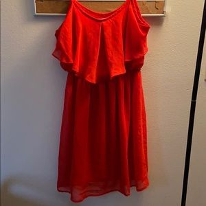 Forever 21 Cute Flowy Red Dress